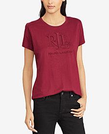 Lauren Ralph Lauren Embossed Logo T-Shirt