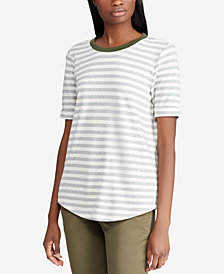 Lauren Ralph Lauren Striped Cotton T-Shirt