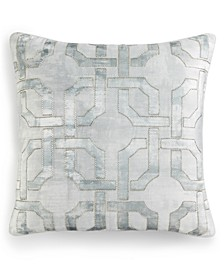 "CLOSEOUT! Fresco Sage 20"" Square Decorative Pillow, Created for Macy's"