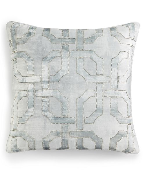 "Hotel Collection CLOSEOUT! Fresco Sage 20"" Square Decorative Pillow, Created for Macy's"