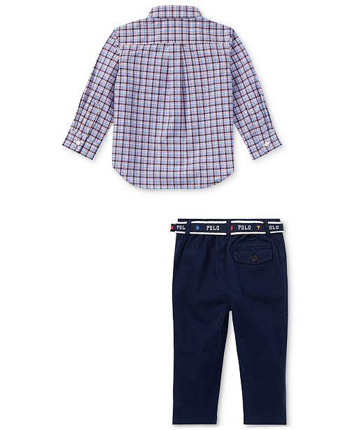 61b587ef Polo Ralph Lauren Ralph Lauren Baby Boys Plaid Shirt & Chino ...