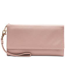 Collection XIIX Smooth Leather Flap Organizer Wristlet