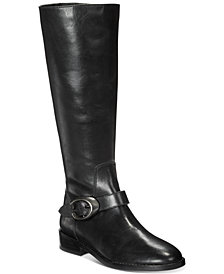COACH Brynn Signature Buckle Riding Boots
