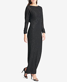 Vince Camuto Sequined Cowl-Back Gown