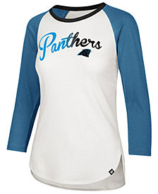 '47 Brand Women's Carolina Panthers Splitter Ombre Raglan T-Shirt