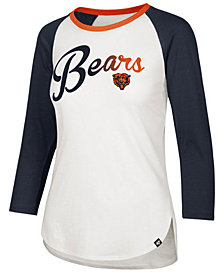 '47 Brand Women's Chicago Bears Splitter Ombre Raglan T-Shirt