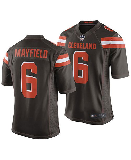 Nice Nike Men's Baker Mayfield Cleveland Browns Game Jersey & Reviews  supplier