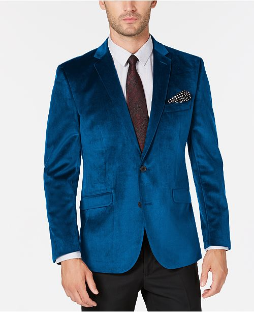 Kenneth Cole Reaction Men's Slim-Fit Velvet Sport Coat, Online Only