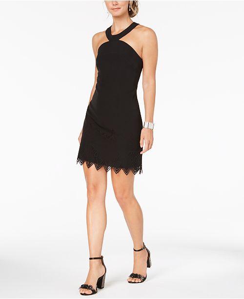 Laundry by Shelli Segal Cutout-Trim Sheath Dress - Dresses - Women ... 90230b968