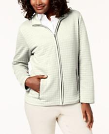 Karen Scott Petite Quilted Jacket, Created for Macy's