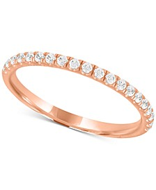 Certified Diamond Wedding Band in 18k Gold, White Gold or Rose Gold (1/4 ct. t.w.), Created for Macy's