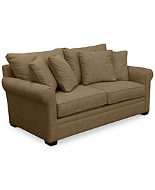 "Dial II 76"" Apartment Sofa with 4 Toss Pillows"