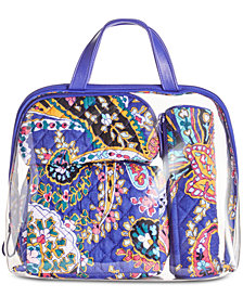 Vera Bradley Iconic 4-Pc. Cosmetics Case Set