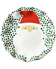 Coton Colors Ho Ho Santa Ruffle Plate