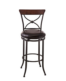 Cameron Swivel X-Back Counter Stool