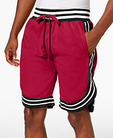 American Stitch Men's Satin Striped-Trim Shorts