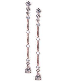 Nina Crystal & Stone Linear Drop Earrings