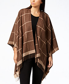 Eileen Fisher Baby Alpaca Printed Poncho, Regular & Plus