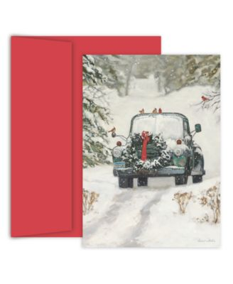 Classic Holiday Car Boxed Cards