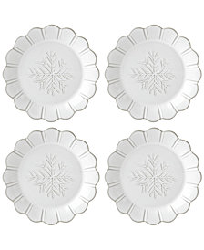 Lenox Alpine  Carved 4-Pc. Accent Plate Set