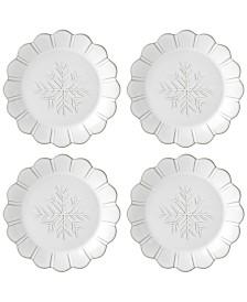 Lenox Alpine  Carved 4-Pc. Accent Plate Set