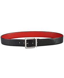 DKNY Textured-to-Smooth Reversible Belt, Created for Macy's
