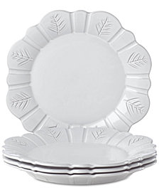 Lenox Alpine  Carved Dinner Plates, Set of 4
