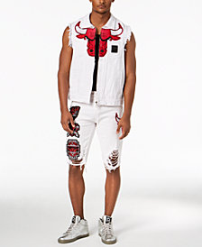 Heritage America Men's Chicago Bulls Shirt & Shorts Separates