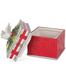 Fitz and Floyd Tartan Christmas Lidded Box