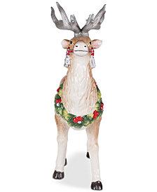 Fitz and Floyd Tartan Christmas Deer Figurine