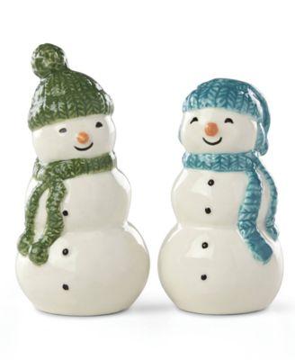 Balsam Lane Snowman Salt & Pepper Shaker Set