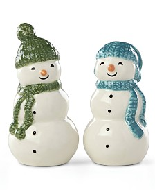 Lenox Balsam Lane Snowman Salt & Pepper Shaker Set