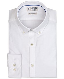 Men's Heritage Slim-Fit Comfort Stretch Solid Oxford Dress Shirt