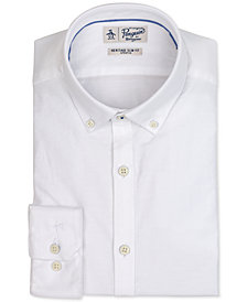 Original Penguin Men's Heritage Slim-Fit Comfort Stretch Solid Oxford Dress Shirt