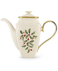 Holiday Square Coffee Pot with Lid
