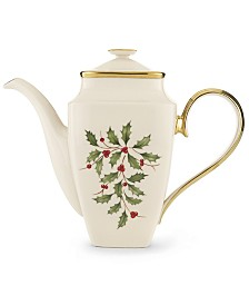 Lenox Holiday Square Coffee Pot with Lid