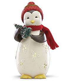 Lenox Merry & Light Lit Penguin Figurine