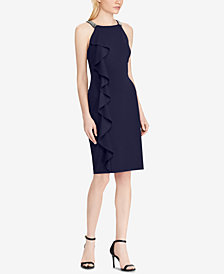 Lauren Ralph Lauren Ruffled Halter Dress