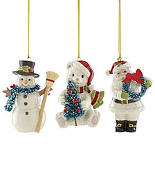 Lenox Winter Wonderland Ornaments, Set of 3