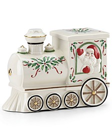 Santa Train Cookie Jar