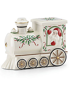 Lenox Santa Train Cookie Jar