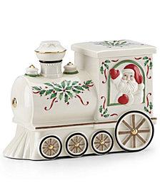 Lenox Santa Train Cookie Jar