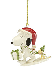 Lenox Snoopy Holiday Gift Ornament