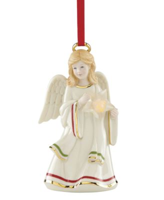 Starry Lit Musical Angel Ornament