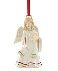 Lenox Starry Lit Musical Angel Ornament