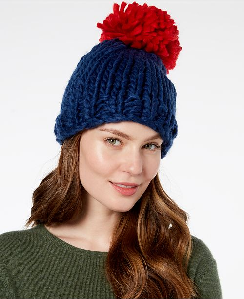 267dd5e1169 BCBGeneration Contrast Pom Pom Everyday Beanie