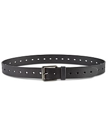 Perry Ellis Men's Perforated Leather Belt