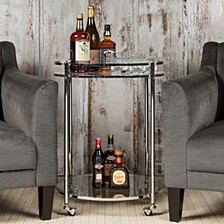 Veranda Round Glass Cart