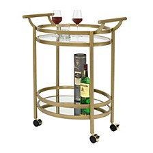 Palazzo Glass Bar Cart, Gold