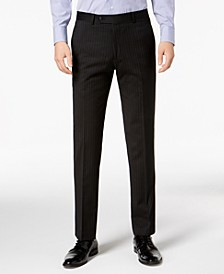 Men's Modern-Fit THFlex Stretch Black Pinstripe Suit Separates